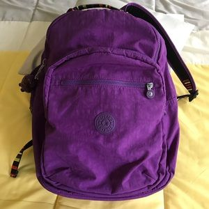 Kipling Seoul Large Backpack Purple Tile